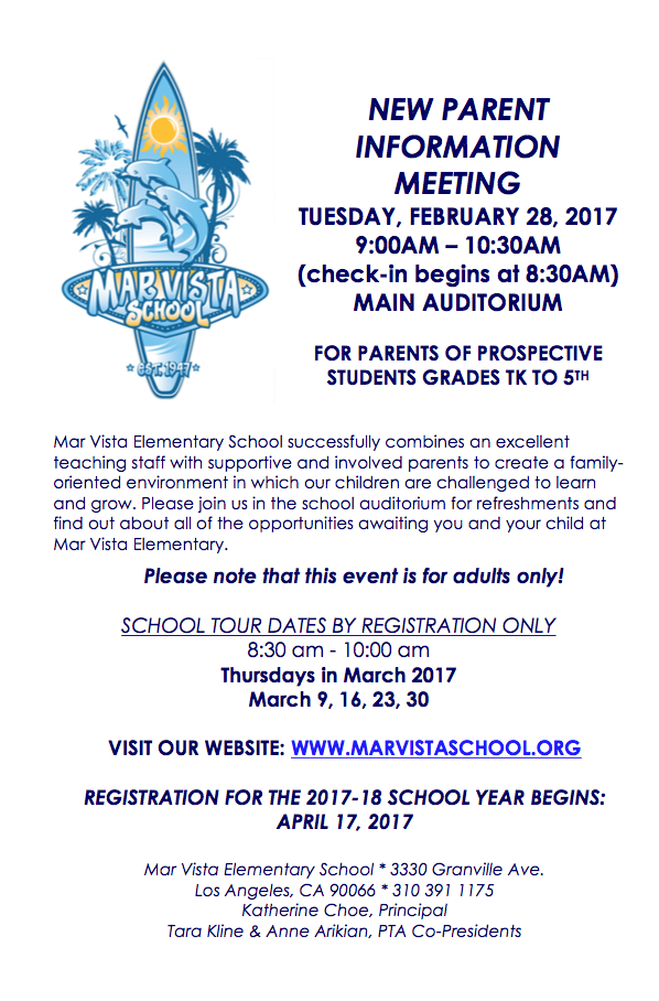New Parent Information Meeting